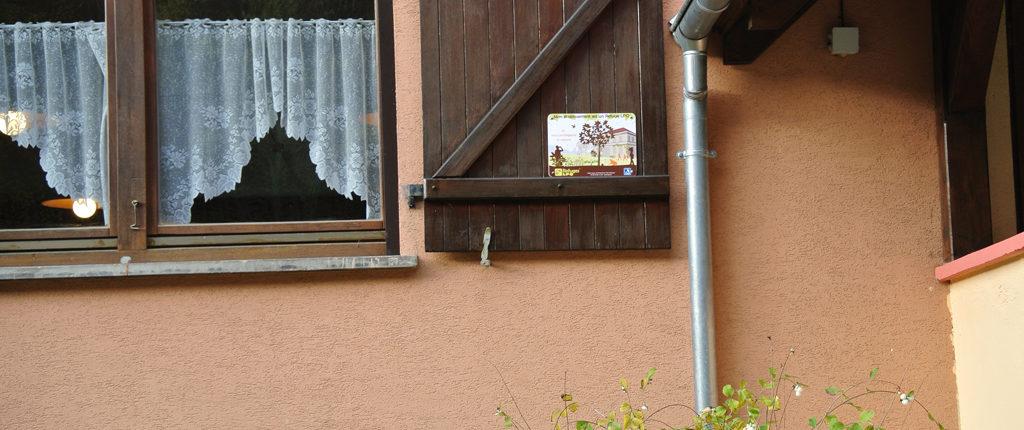 """Label """"refuge LPO"""" du refuge des Amis de la Nature à Sturzelbronn"""