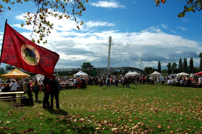 Fête du Centenaire des Amis de la Nature de France, au Jardin des 2 Rives à Strasbourg.