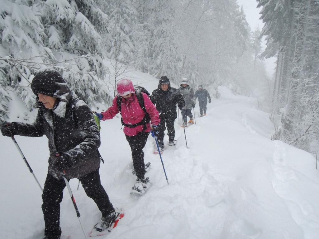 Randonnée en raquette avec les Amis de la Nature autour du Lac Blanc, dans les Vosges
