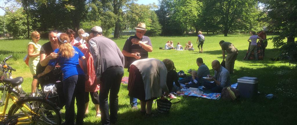 Le pique-nique de la journée Multi-activités des Amis de la Nature au parc de l'Orangerie