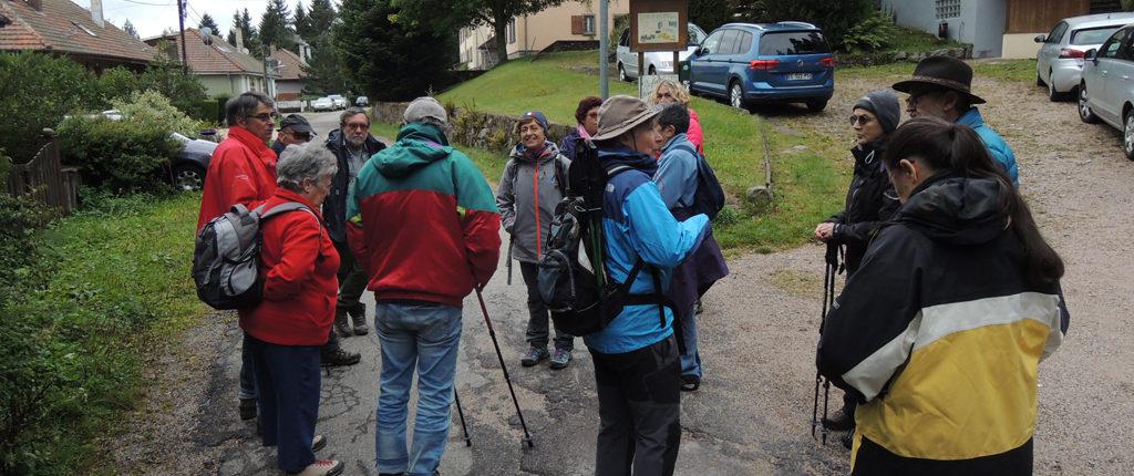 Les participants à la rencontre interdépartementale des Amis de la Nature au refuge du Lac Noir