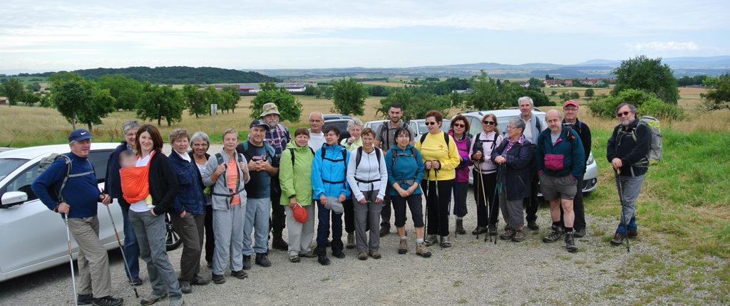 Participants à la sortie Nature des Amis de la Nature au Bastberg